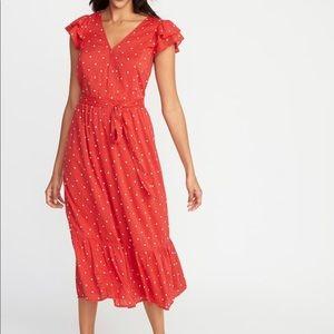 Old Navy Waist Defined Wrap dress